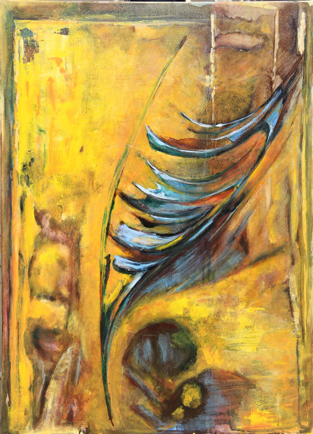 """Feather in Yellow"" 2013"
